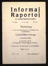 Informaj raportoj de Aŭstriaj Esperanto-societoj