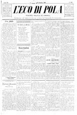 L'Eco di Pola 18921231 Seite: 1