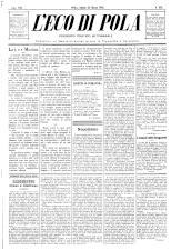 L'Eco di Pola 18930325 Seite: 1