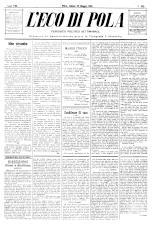 L'Eco di Pola 18930520 Seite: 1