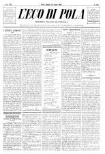 L'Eco di Pola 18930624 Seite: 1