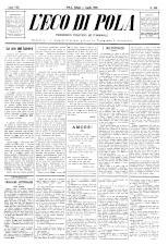 L'Eco di Pola 18930701 Seite: 1
