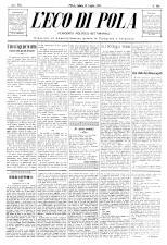 L'Eco di Pola 18930715 Seite: 1