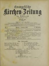 Evangelische Kirchen-Zeitung für Österreich 18930101 Seite: 1
