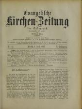 Evangelische Kirchen-Zeitung für Österreich 18930701 Seite: 1