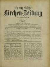 Evangelische Kirchen-Zeitung für Österreich 18930715 Seite: 1