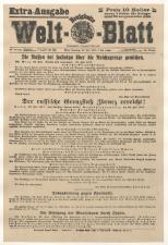 Extraausgaben des 1. Weltkrieges