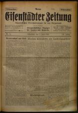 Neue Eisenstädter Zeitung 19250607 Seite: 1