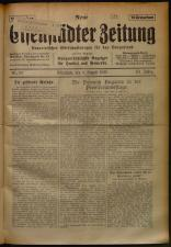 Neue Eisenstädter Zeitung 19250809 Seite: 1