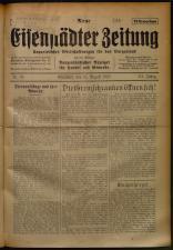 Neue Eisenstädter Zeitung 19250816 Seite: 1