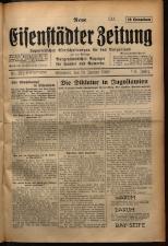 Neue Eisenstädter Zeitung 19290113 Seite: 1