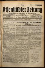 Neue Eisenstädter Zeitung 19290127 Seite: 1