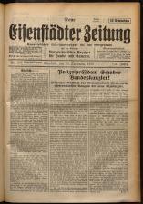 Neue Eisenstädter Zeitung 19290929 Seite: 1