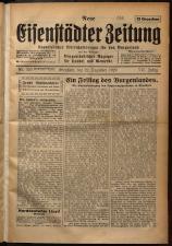 Neue Eisenstädter Zeitung 19291222 Seite: 1