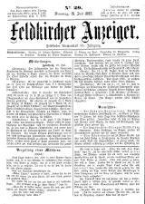 Feldkircher Anzeiger 18930718 Seite: 1