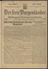 Der freie Burgenländer 19211112 Seite: 1