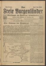 Der freie Burgenländer 19211130 Seite: 1
