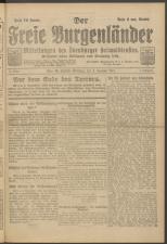 Der freie Burgenländer 19211208 Seite: 1