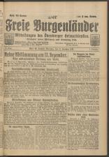 Der freie Burgenländer 19211211 Seite: 1