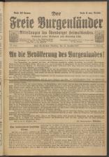 Der freie Burgenländer 19211225 Seite: 1