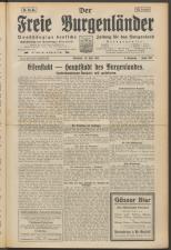 Der freie Burgenländer 19250510 Seite: 1