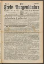 Der freie Burgenländer 19250711 Seite: 1