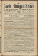 Der freie Burgenländer 19250927 Seite: 1