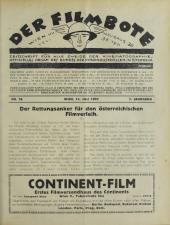 Der Filmbote. Zeitschrift für alle Zweige der Kinematographie.