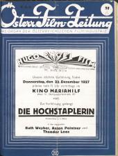 Österreichische Film-Zeitung 19271217 Seite: 1