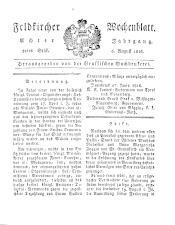 Feldkircher Wochenblatt