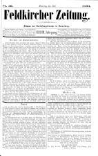 Feldkircher Zeitung 18930715 Seite: 1