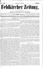 Feldkircher Zeitung 18931007 Seite: 1