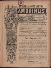 Gambrinus, Brauerei- und Hopfen-Zeitung 18930101 Seite: 1