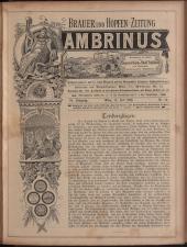 Gambrinus, Brauerei- und Hopfen-Zeitung 18930715 Seite: 1