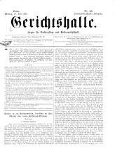 Gerichtshalle 18930717 Seite: 1