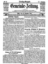 Gemeinde-Zeitung: unabhängiges politisches Journal
