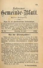Gemeindeblatt Lustenau 18930716 Seite: 1