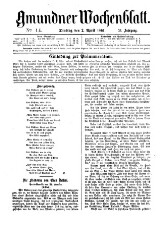 Gmundner Wochenblatt 18610402 Seite: 1