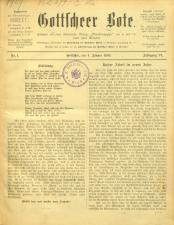 Gottscheer Bote 19090104 Seite: 1