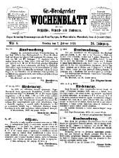 Gr(oß)-Becskereker Wochenblatt