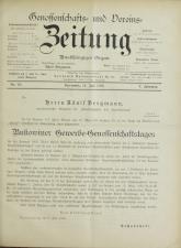 Genossenschafts- und Vereins-Zeitung 18930714 Seite: 1