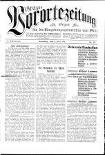 Grazer Vorortezeitung: Organ f. d. Umgebungsgemeinden v. Graz
