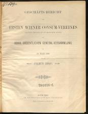 Geschäfts-Bericht des Ersten Wiener Consum-Vereines