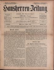 Der Hausbesitzer/Hausherren Zeitung 18930101 Seite: 1