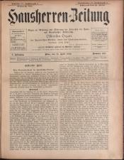 Der Hausbesitzer/Hausherren Zeitung 18930415 Seite: 1