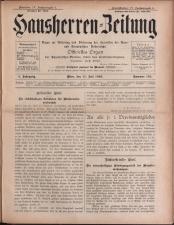 Der Hausbesitzer/Hausherren Zeitung 18930715 Seite: 1