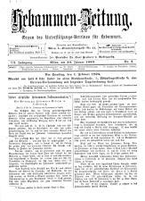 Hebammen-Zeitung 18930130 Seite: 1
