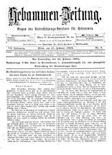 Hebammen-Zeitung 18930215 Seite: 1