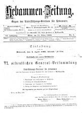 Hebammen-Zeitung 18930315 Seite: 1