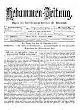 Hebammen-Zeitung 18931115 Seite: 1